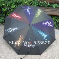 Free shipping FATE / ZERO / SABER Sunny umbrella The second element umbrella Anime Umbrella