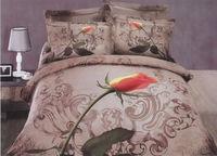 Luxury bedding set cotton 100% ink 3 d bedding set points tulip free shipping!