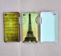 2 Pcs New Retro City Eiffel Tower Hard Back Case Cover for iPod Touch 4 A102A
