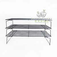 Free shipping 3 layers/set folding cake cooling rack biscuits cooling rack cake cool network baking tools