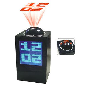 Black Large LCD Digital Projector LED Time Alarm Clock