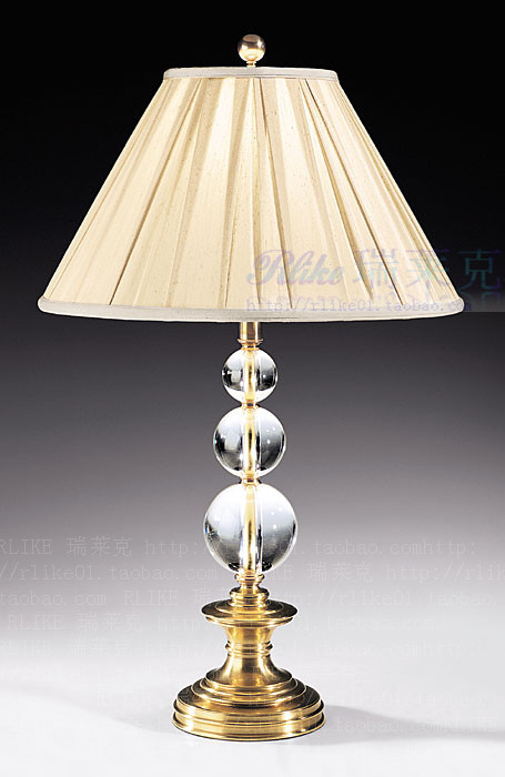 European, American classical lamps lamp new living room / bedroom wall cloth cover + Cu + crystal lamp(China (Mainland))