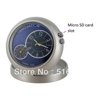 Free Shipping Clock Camera Video Recorder camera Motion Detector DVR Camcorder Temp Meter