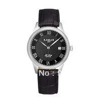 Kassaw Brand Swiss Movement Ultra-thin Strap Commercial Waterproof Vintage Male Black Sapphire Quartz Watch