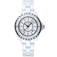 Kassaw 12pcs  Natural Crystal Rhinestone Inlaying Watch Brand Fashion Pearl Ceramic White Ladies Watch