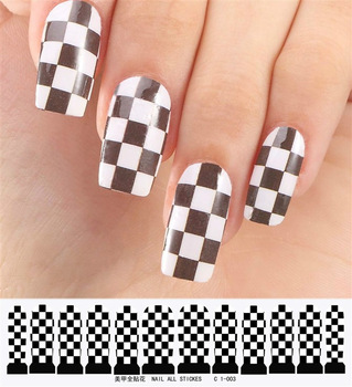 french nail sticker Nail art full water transfer printing finger stickers nail art sticky nail art finger stickers c1 series
