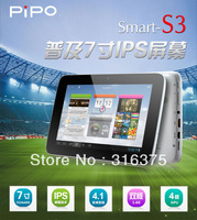 in stock 7 inch IPS Capacitive Screen Android 4.1 Tablet PC PIPO S3+8GB ROM+1GB RAM+RK3066 Cortex A9 Dual Core 1.6GHz+1024*600