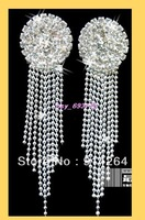 Wholesale 12Pairs Bridal Crystal Rhinestone Earrings   free shipping