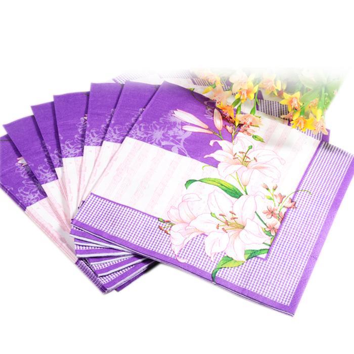 Paper napkins serviettes promotion online shopping for - Serviette table tissu ...