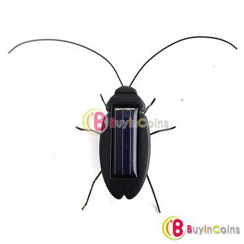 Solar Power Energy Black Cockroach Bug Toy Children [3710|01|01]