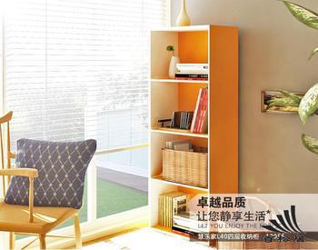 Eco-friendly two-color four drawers locker bookshelf bookcase multicolour combination bookcase