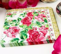 Multicolour table napkin paper printed tissue fashion washouts paper peones paper (10 small bags)