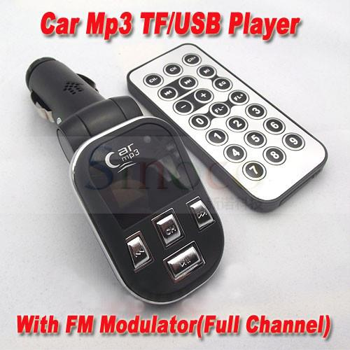 Car Mp3 TF/USB Player With FM Transmitter(China (Mainland))