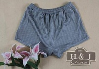 - men's silk knitted boxer panties male silk panties silk shorts -