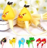 Hot Sale Earphone Stereo Anime Birds Earpiece Deep Bass 3.5mm with Box for Mp3 Tablet ipod Discount Cheap Great Free Shipping