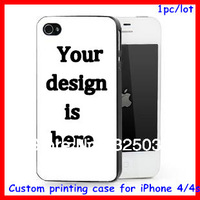 custom design case for iphone 4 4s,DIY OEM hard plastic cover customized printing 1pc per design free HK Drop shipping factory