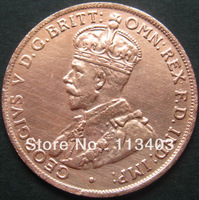 FREE SHIPPING wholesale REPLICA 1930  Australia One Penny Coin Copy 100% coper manufacturing