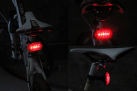 2PC/Lot Bicycle rear light 2013 New Arrive 5 LED 6 Mode Tail Rear Bike Bicycle Light Lamp warning tail lights Safety[Z10000201]