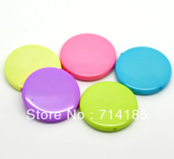 "50PCs Chunky Beads Coin Beads Mixed Flat Round Acrylic Spacer Beads 32mm(1 2/8"")(China (Mainland))"