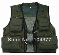 Free shipping! Fishing Camouflage cloth Multi-functional Vest Outdoor Hiking Photography Outerwear Vest sun protection clothing
