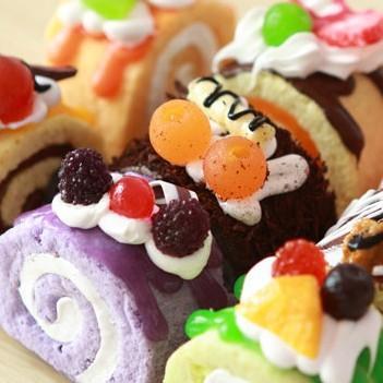 6 pcs muito baratos criativas ímãs de geladeira de bolo de frutas simulação imãs de geladeira(China (Mainland))