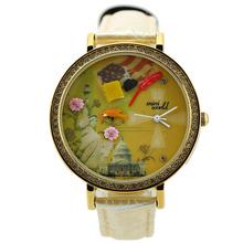 2013 novo mini relógio korea Jewel famosa paisagem mundo a Estátua da Liberdade Barro Watch_wholesale e varejo(China (Mainland))