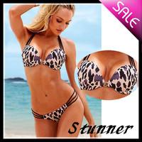 Free shipping/Leopard grain push up Women's Bikini Swimwear swimsuit Bikinis Strappy Sexy Women swimming suit beachwear