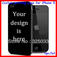 custom design case for iphone 5,DIY OEM hard plastic cover customized printing 1pc per design free HK Drop shipping factory