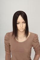 Free shipping 100% human hair seamless real hair real hair piece women's handmade 12.5x6.5cm