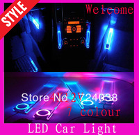 Wholesale 4LED12V Car Charge Interior Decorative colour accessories Light daytime running light DRL car styling and parking