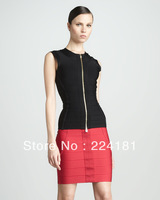 2013 New arrival Black and Red Sleeveless  bandage dress  For Apac Region Bandage Dress HL Strapless Mini Cocktail Party Dress