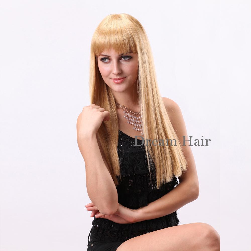 Long Platinum Blonde Wig With Bangs Long Wigs With Bangs Free