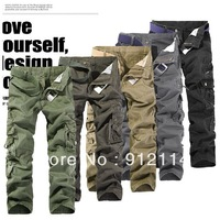 2013 new100% cotton washing camouflage mens overalls ,Large size pants men,military cargo pants for men,freeshipping,28-38,K015