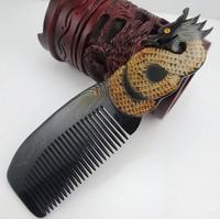 Wholesale 5PCS/lots high quality Natural horn dragon comb natural horn carving comb NJ710210q