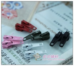 Diy ingredients zipper slider the casualness 3 slider 5-color(China (Mainland))