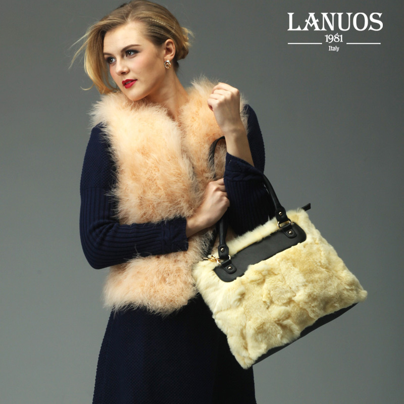 2013 lanuos rex rabbit hair fur bag fashion shoulder bag messenger bag handbag(China (Mainland))