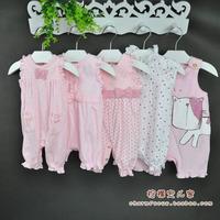 Children's clothing next female child infant sleeveless romper boxer spring pink bodysuit