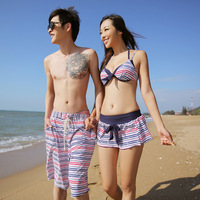 Bribed 2013 swimwear 1341 lovers beach swimwear steel bikini beach pants  Free shipping