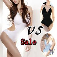 Free shipping/ON SALE black white costume sexy lingerie swimming 1 pcs Halter hot sale hang the neck dress beachwear Summer