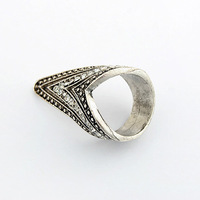 Min Order $10,Fashion Ring,Punk Style Exaggerated Retro Triangle Jesus Ring,Vintage Accessories For Women or Men