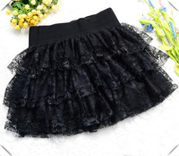 2013 spring and summer short skirt bust lace puff cakefemale tulle basic dance  skirt free shipping