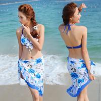 Free shipping korean bikini 2013 bribed 1204 bikeways steel piece set swimwear hot spring swimwear