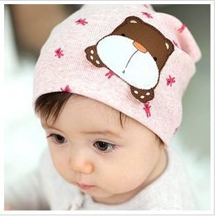 Comfortable Korean children head cap/teddy bear baby hat/cap/baby autumn winter hat