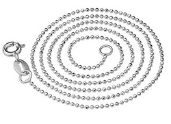 Chain Of The Real Silver Children Necklace Different Types Of Necklace Chains Bead Chain Necklace 1mm Silver Of The Link(China (Mainland))