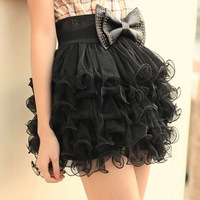 2013 summer puff skirt bust  cake gauze  half-length basic  fishbone wire small short dress