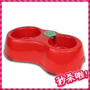 Pet utensils dog bowl automatic pet water dispenser bowl double bowl color