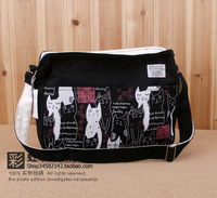 2013 women's handbag canvas shoulder messenger student school bag backpack cat bag