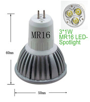 10pcs/lot 220V 3W  High Power MR16 LED Spot Light Energy Saving Lamp Bulbs White Free Shipping