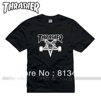 free shipping The whole network thrasher skateboard swag hiphop HARAJUKU short-sleeve T-shirt