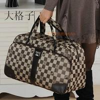 Hot selling fashion waterproof plaid luggage male female canvas travel bags male women's handbags FREE SHIPPING